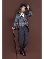 Vintage Grey Netural Cropped Trousers by Mr Yi's Steamland