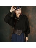 Pirate Style Vintage Studded Wide Belt by Mr Yi's Steamland