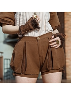Vintage Brown Stitching Puffy Bloomers by Mr Yi's Steamland