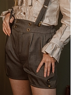 Grey Vintage Short Overalls by Mr Yi's Steamland
