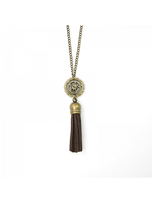 Handmade Steampunk Vintage Metal Gear Tassel Long Pendant Necklace by Mr Yi's Steamland