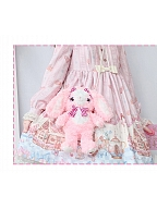 Teddy Bear / Strawberry Bunny Plush Doll Pearls Strap Crossbody Bag by Nanaco