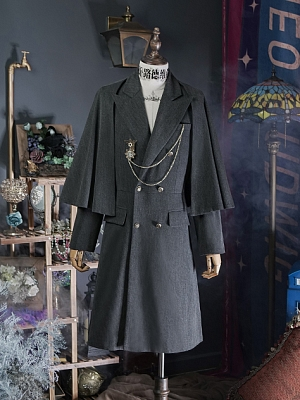 Metal Rose Military Lolita Inverness Coat by Neo Ludwig