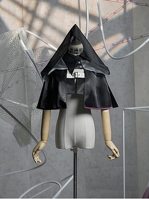 CODE-F Punk Lolita Hooded Cropped Cape by Neo Ludwig