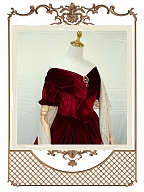 Vintage Isabella Red Velvet Dress OP by Souffle Song