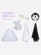 Hanayome Matching Accessories Veil / Petticoat / Gloves / Headpiece by Souffle Song