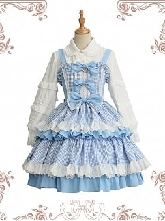 Lasagna Pie Plaid Classic Sweet Lolita Dress JSK by Souffle Song