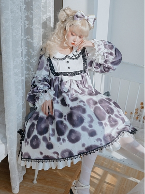 Cream Cake Little Cow Sweet Lolita Dress OP by OCELOT