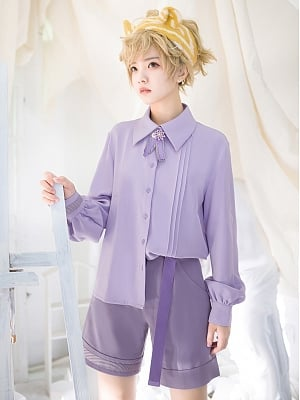 Baby Tiger Purple Ouji Lolita Shirt / Shorts Set by Princess Chronicles