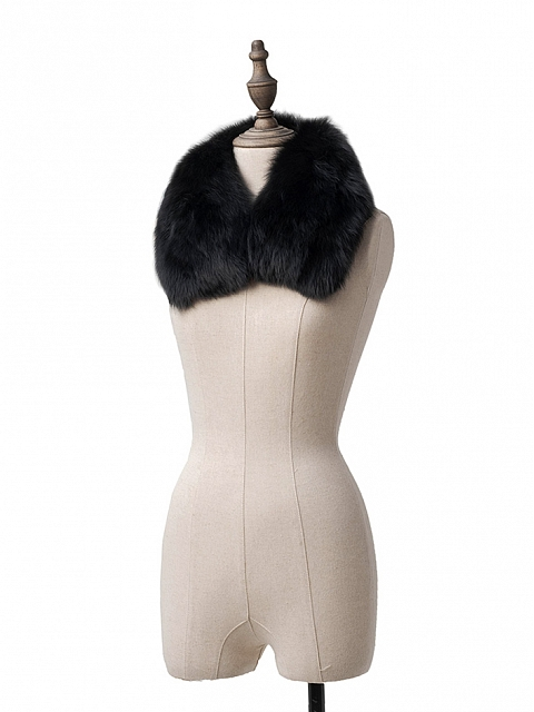 Winter of The Night Coat Matching Fox Collar by Pennyhouse