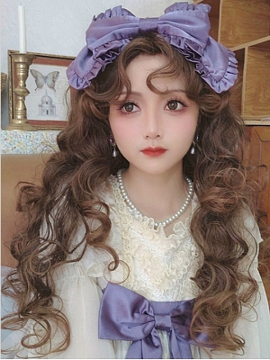 Gorgeous Vintage Curly Lolita Wig Brown Curly Wig by Pippi Palace