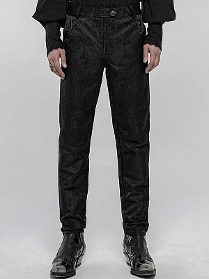 Men's Gothic Gorgeous Jacquard Pants by Punk Rave