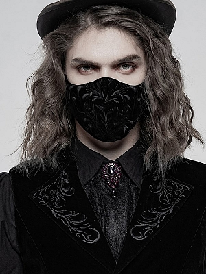 Gothic Exquisitely Embroidered Face Mask by Punk Rave