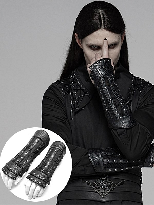 Men's Gothic Steampunk Chinese Style Plate Gloves by Punk Rave