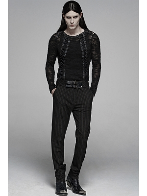 Men's Gothic Gentleman Style Vertical Striped Trousers by Punk Rave