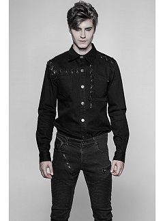 Men's Gothic Long Sleeves Shirt by Punk Rave