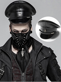 Men's Gothic Punk PU Leather Hat by Punk Rave