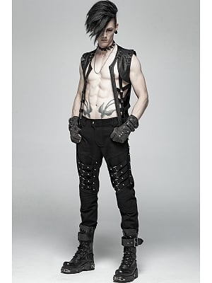Men's Gothic Heavy Metal Trousers by Punk Rave