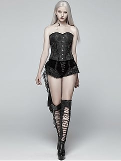 Gothic Lolita Jacquard Sweetheart Neckline Corset by Punk Rave