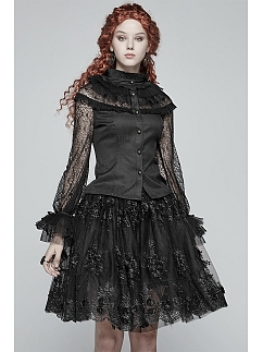 Gothic Lolita Lace Long Sleeves Top by Punk Rave