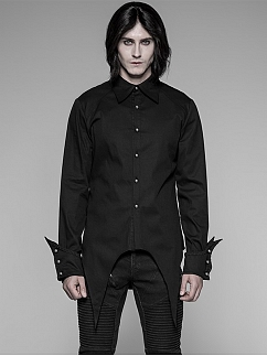 Men's Gothic Simple Long Sleeves Shirt by Punk Rave