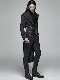 Men's Gothic Punk Gentleman Simple Trousers by Punk Rave