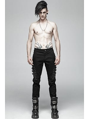 Men's Gothic Punk Trousers by Punk Rave