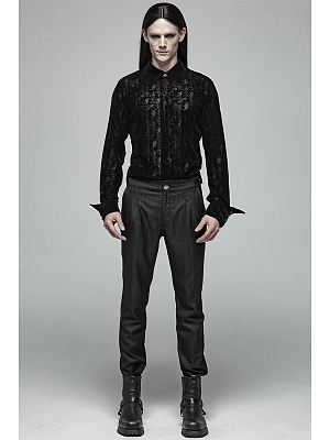 Men's Gothic Daily Wear Trousers by Punk Rave