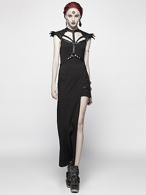 Gothic Punk Asymmetrical Sexy Knitted Dress by Punk Rave