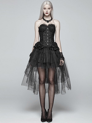 Gothic Sweet Lolita Tiered Puff Skirt by Punk Rave