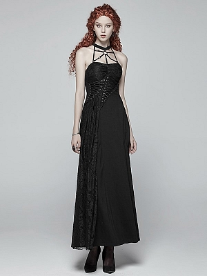Gothic Daily Wear Sweetheart Neckline Long Dress by Punk Rave