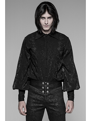 Men's Gothic Gorgeous Leg-of-mutton Sleeves Shirt by Punk Rave