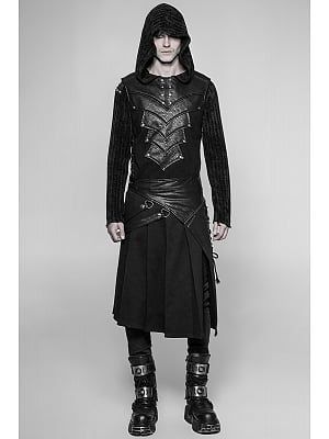 Men's Gothic Steampunk Heavy Metal Detachable Skirt by Punk Rave