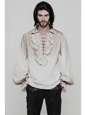 Men's Gothic Steampunk Long Sleeves Shirt by Punk Rave