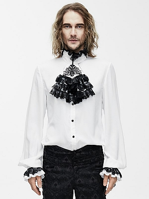 Men's Gothic Vintage Long Sleeves Shirt by Punk Rave