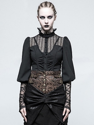 Gothic Lolita 3/4 Puff Sleeves Shirt by Punk Rave