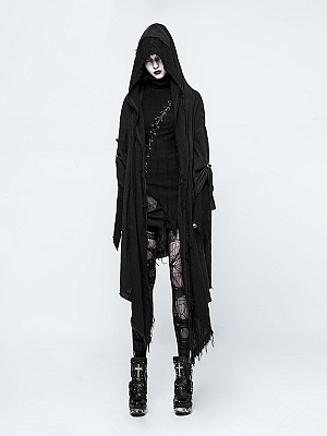 Gothic Punk Vampire Hooded Long Sleeves Outwear by Punk Rave