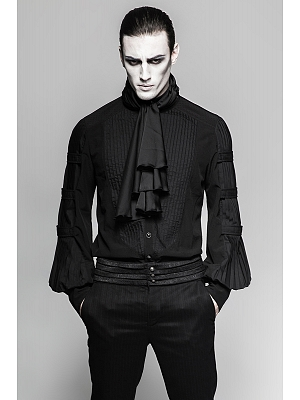 Men's Gothic Steampunk Gentleman Long Sleeves Shirt with Necktie by Punk Rave
