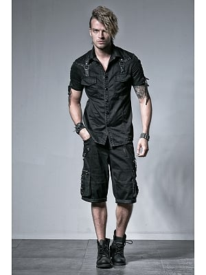 Men's Gothic Punk Short Sleeves Shirt by Punk Rave