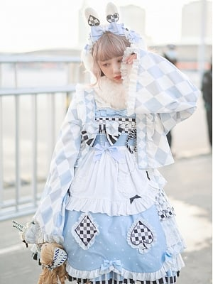 Sleepy Alice Wa Lolita Wide Sleeves Haori by Pretty Tuna Cake