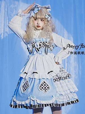 Sleepy Alice Wa Lolita Ruffle Hem Apron by Pretty Tuna Cake