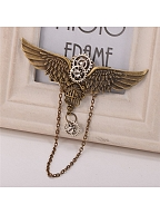 Steampunk Lolita Vintage Gear Wing Chain Hairclip by Qian Chen Accessories