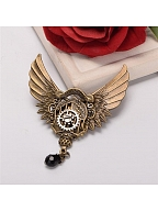 Steampunk Lolita Vintage Mechanical Wing Brooch by Qian Chen Accessories