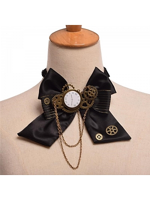 Steampunk Lolita Vintage Clock Gear Bow Tie by Qian Chen Accessories