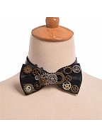 Steampunk Lolita Vintage Gear Bow Tie by Qian Chen Accessories