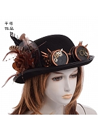 Steampunk Lolita Vintage Gear Goggles Top Hat by Qian Chen Accessories