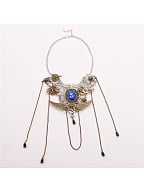 Steampunk  Lolita Gear Clock Wing Necklace by Qian Chen Accessories
