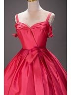 Hot Pink Vintage Lolita Prom Dress by Queen Devil