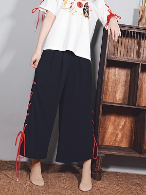 Night Criss-cross on The Splits Loose Pants by Quirky Hut