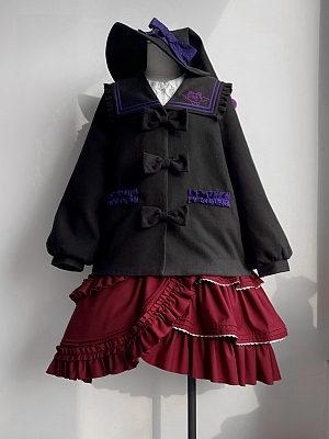 Rebellious Witch Lolita Long Balloon Sleeves Coat by Qinhua Shop